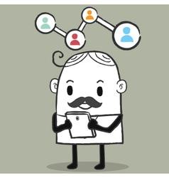 Business man network vector