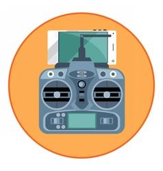 Digital blue drone remote control vector image