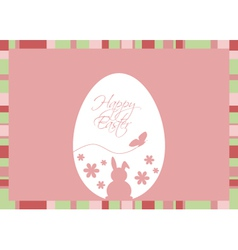 Easter Egg with Greeting on a Pink Backgrou vector image vector image