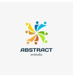 Isolated abstract square shape colorful vector image