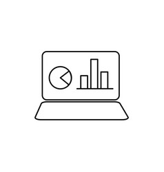 notebook with chart icon vector image