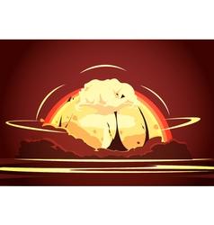 Nuclear Bomb Explosion Retro Cartoon Poster vector image