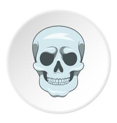 Skull icon cartoon style vector image vector image