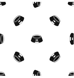bowl for animal pattern seamless black vector image vector image