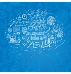 Creative Icon Doodle vector image vector image