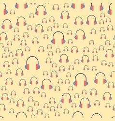 headphones background hip hop seamless vector image