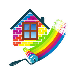 home painting roller vector image