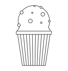 ice cream glass icon outline style vector image