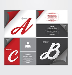 Infographic Design modern Vintage Labels template vector image vector image