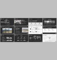 minimal presentation templates technology design vector image
