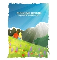 Mountain Landscape Nature Romantic Background vector image