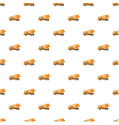 orange truck concrete mixer pattern vector image