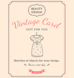 sketch dress and text vector image vector image