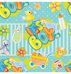 baby boy pattern vector image vector image
