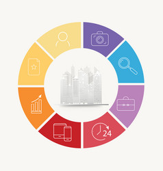 Circle house concepts with icons vector