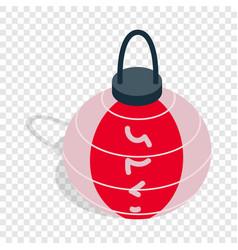 colorful oriental lantern isometric icon vector image