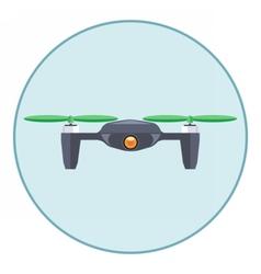 Digital silver drone with recording camera vector image vector image