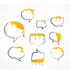 dropping honey from speech bubbles vector image vector image