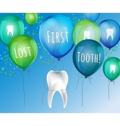First lost tooth vector image vector image