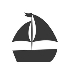 sailboat sea isolated icon vector image