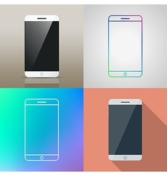 Set of Smartphone icon vector image vector image