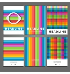 Set six book covers background of colored squares vector image