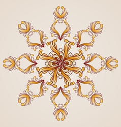 Abstract floral pattern element in form flower vector