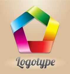 Abstract infinite loop logo template vector
