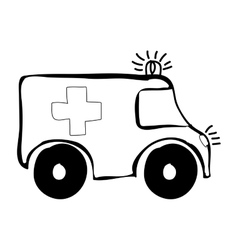 Ambulance medical icon image vector