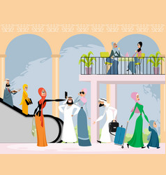 Arab men and women vector