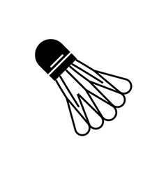 badminton shuttlecock black icon sign on vector image