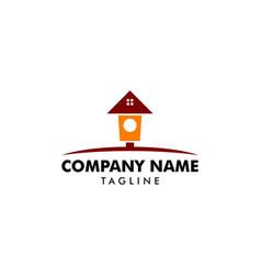 bird house logo vector image