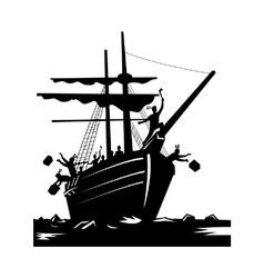Boston Tea Party Raiders Retro vector