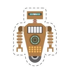 Brown robot technology future artificial vector