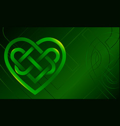 celtic knot heart vector image