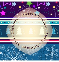 Christmas striped greeting card vector