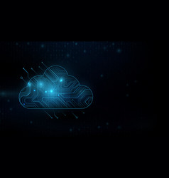 cloud computing technology internet storage vector image