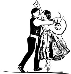 couple dancing marinera vector image