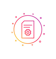 document management icon file with cogwheel vector image