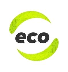 eco logo template vector image