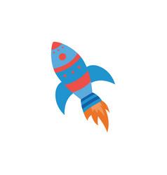 Fantasy cartoon cosmic rocket or spaceship flat vector