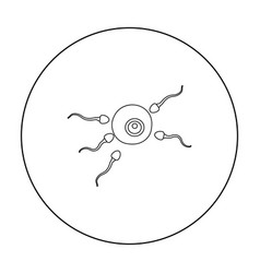 fertilization icon in outline style isolated on vector image