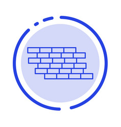 Firewall security wall brick bricks blue dotted vector