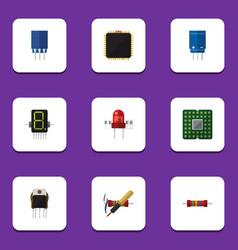 Flat icon electronics set of recipient unit vector
