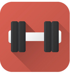 Flat icon toy dumbbell vector
