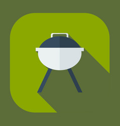 Flat modern design with shadow icons barbecues vector