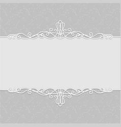 frame beautiful wedding invitations postcards vector image
