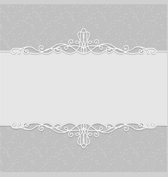 frame of beautiful wedding invitations postcards vector image