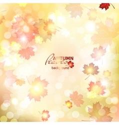 Fuzzy soft warm autumn background vector