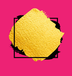 golden brush stroke banner for you amazing vector image